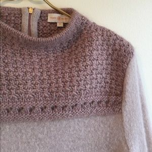 Tory Burch Sweater Mauve Purple Knit Marnie